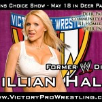 Jillian Hall returns to Victory Pro Wrestling for the VPW Fans Choice Show May 18 in Deer Park