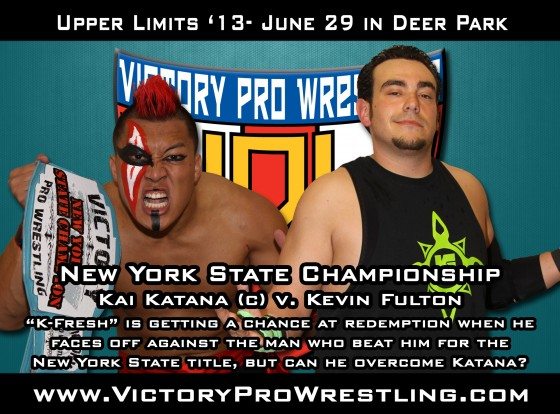 Kai Katana against K-Fresh Kevin Fulton for the VPW New York State Championship