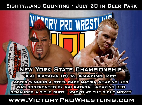 Kai Katana (c) defends the New York State Championship against Amazing Red
