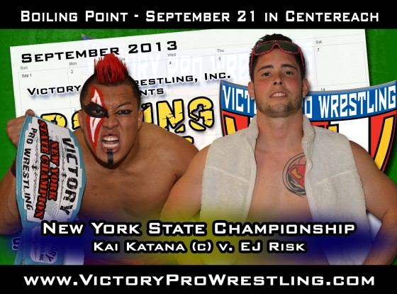 2013 Gold Rush Rumble winner EJ Risk challenges Kai Katana for the New York State Championship