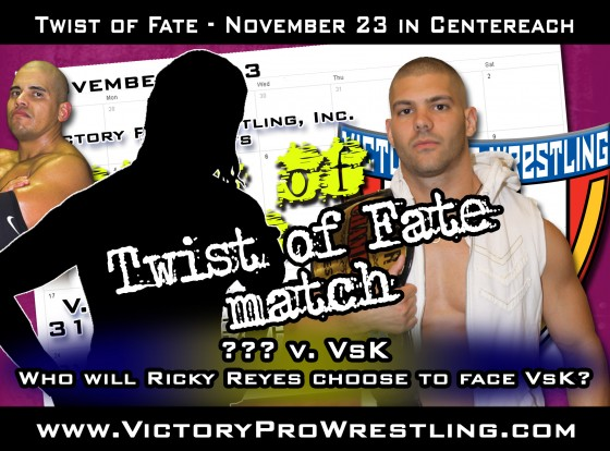 Who will Ricky Reyes choose to face VsK at Twist of Fate?