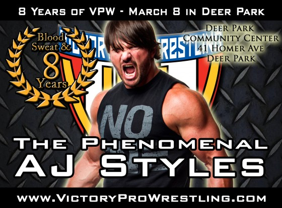 Blood Sweat & 8 Years special guest: AJ Styles