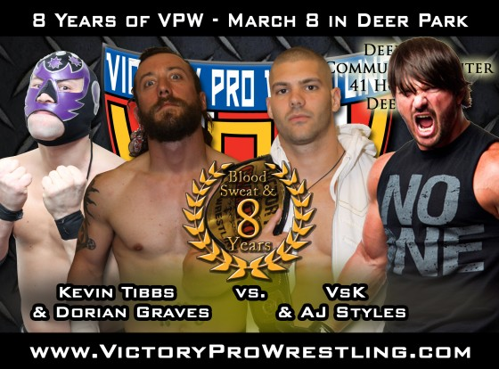 Church of Tibbs face VsK and AJ Styles at Blood Sweat and 8 years