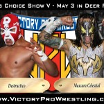 Destructico against Mascara Celestial at Fans Choice Show V