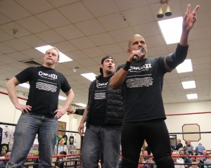 Ricky Reyes and ConfluxXx addressing the Centereach fans