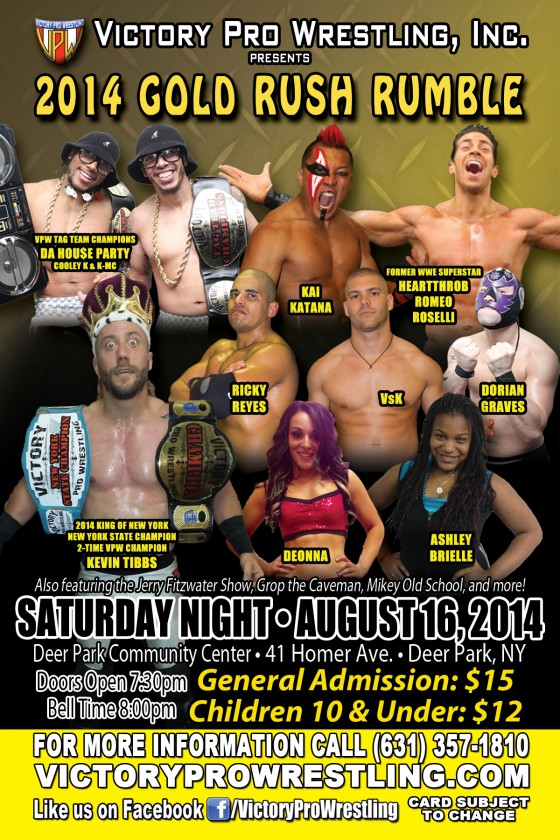 The Gold Rush Rumble, Saturday August 16