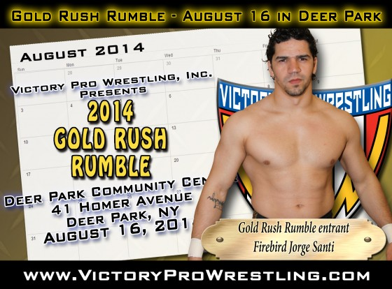 Santi sets sights on Gold Rush Rumble