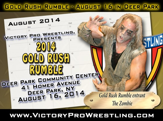 The Zombie enters the Gold Rush Rumble
