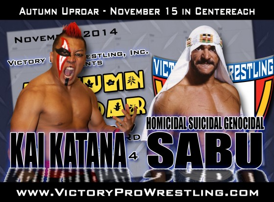 Kai Katana faces Sabu in November