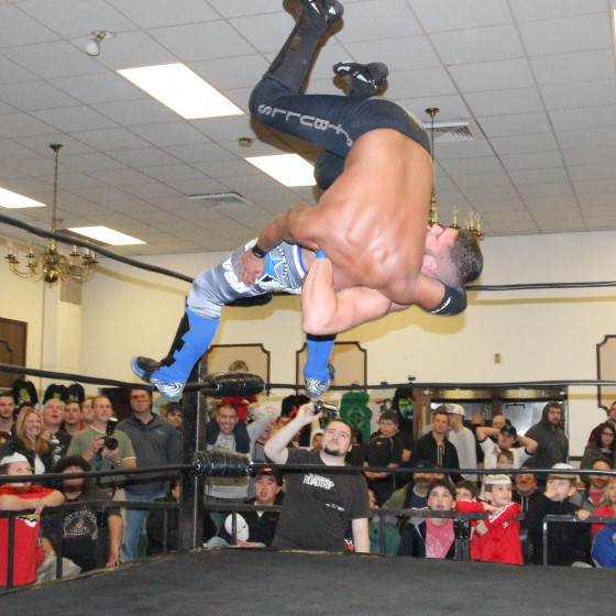 Ricky Reyes takes a ride on a VsK superplex