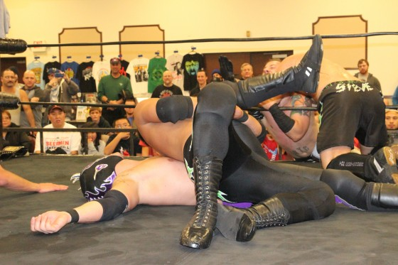 The Down Boyz Doomsday Dropkick knocked out Dorian Graves for the count