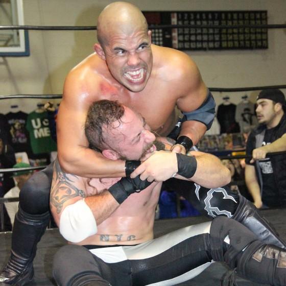 Ricky Reyes wearing Kevin Tibbs down at December Devastation