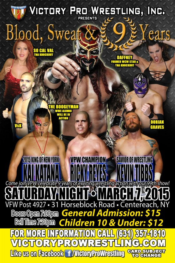 VPW presents Blood Sweat and 9 Years