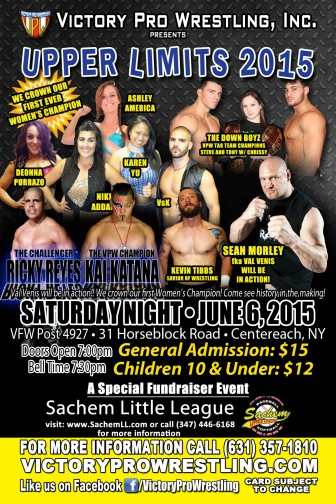 VPW presents Upper Limits with Val Venis and the new VPW Women's Championship