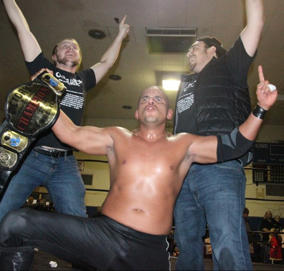 Ricky Reyes after winning the VPW Championship December 2014