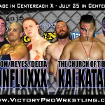 ConfluxXx, Church, and Champ in Cage for Carnage in Centereach