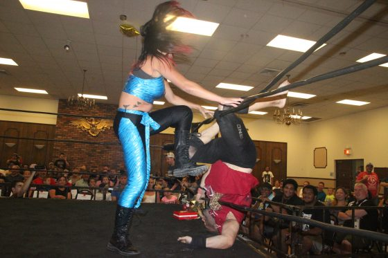 Nikki Addams unleashing her anger on Grop