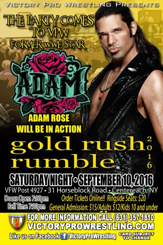 gold rush rumble featuring Adam Rose