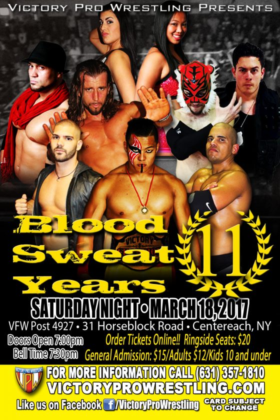VPW presents Blood Sweat and 11 Years