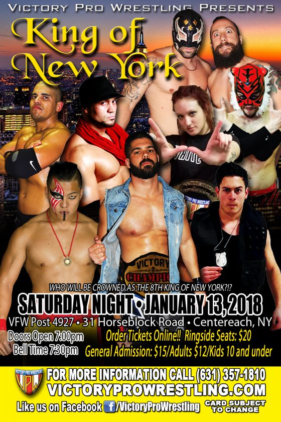 VPW presents the King of New York January 13, 2018