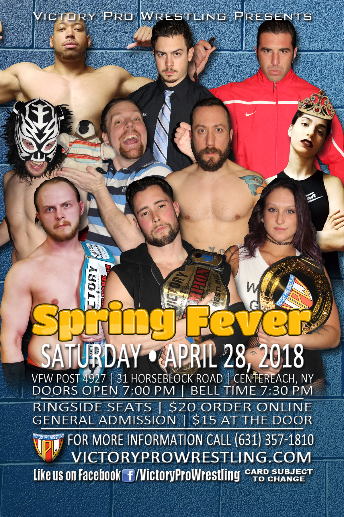 VPW presents Spring Fever, April 28 2018