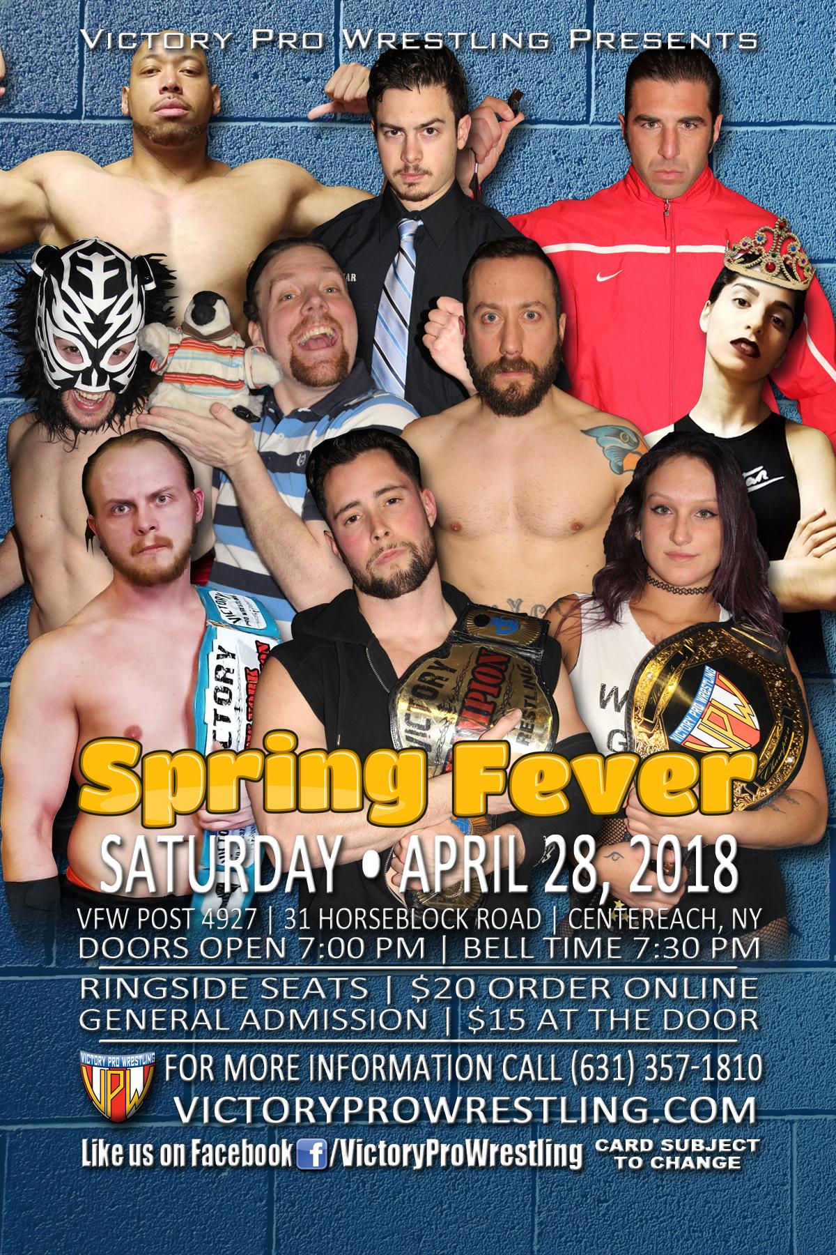 VPW presents Spring Fever, April 28 2018