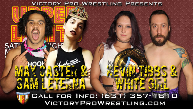 White Girl teams up with Kevin Tibbs at Upper Limits to meet Sam L'Eterna and Max Caster in a Mixed Tag challenge