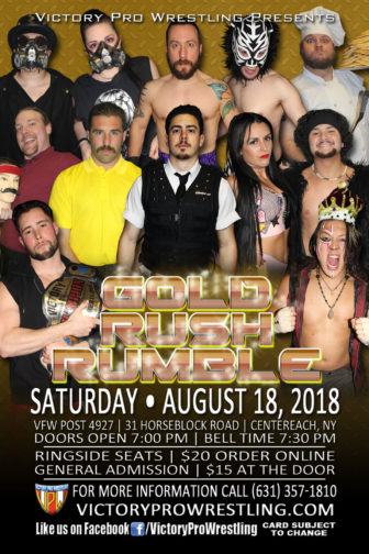 VPW presents the Gold Rush Rumble, Saturday August 18, 2018