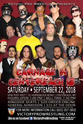 VPW presents the Carnage in Centereach 12, Saturday September 22