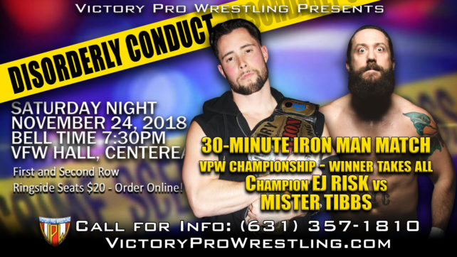 Is 30 minutes enough? Tibbs calls for Ironman match for VPW Championship at Disorderly Conduct