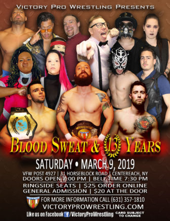 VPW presents Blood Sweat & 13 Years