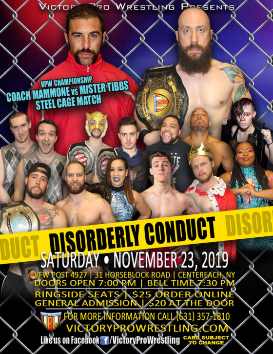 VPW presents Disorderly Conduct November 23