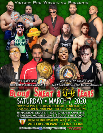 VPW presents Blood Sweat and 14 Years - March 7, 2020