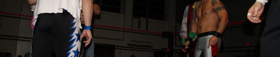 Kevin Tibbs stares down VsK and AJ Styles at Blood Sweat and 8 Years